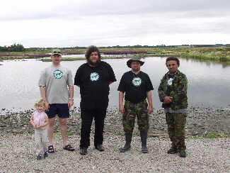 MOST OF THE CLASS OF 2002 L-R Alexandra Matthews; Tim Matthews; Jon Downes; Richard Freeman; John Fuller (Sarah had gone home and Graham was taking the picture)