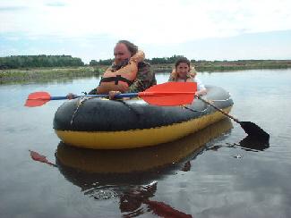 Richard and Sarah Burdon (Champion Newspapers) explore the lake