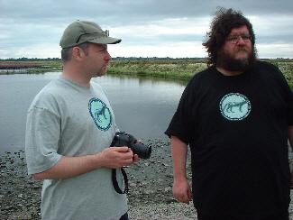 Tim Matthews and Jon Downes plot world domination by the lakeside