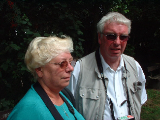 David and Estelle Walsh who witnessed the first attack on a swan